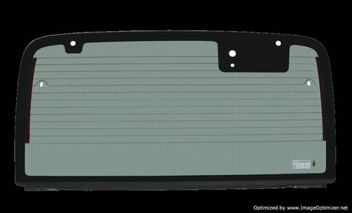 30 9903 97-02 - Jeep Wrangler TJ 97-02 Back hard Top glass, Non-Heated with Attachments