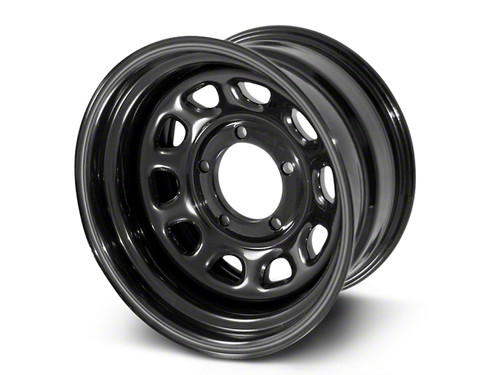 Rugged Ridge, 15500.01 - Black D Window Wheel, 15 in X 8 ines, 5 x 4.5 in bolt pattern