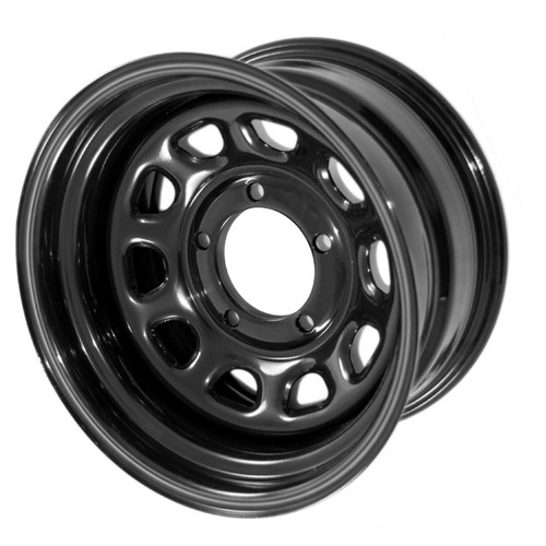 Rugged Ridge, 15500.02 - Black D Window Wheel, 15 in X 10 ines, 5 x 4.5 in bolt pattern