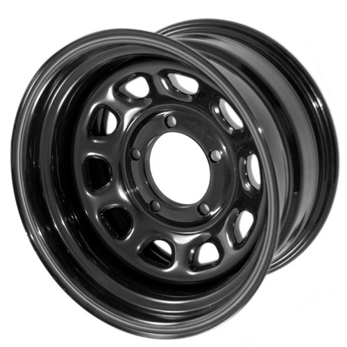 Rugged Ridge, 15500.10 - Black D Window Wheel, 15 in X 8 ines, 5 x 5.5 in bolt pattern
