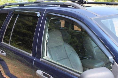 Rugged Ridge, 11351.22 - Window Rain Deflectors 99-04 Jeep Grand Cherokee