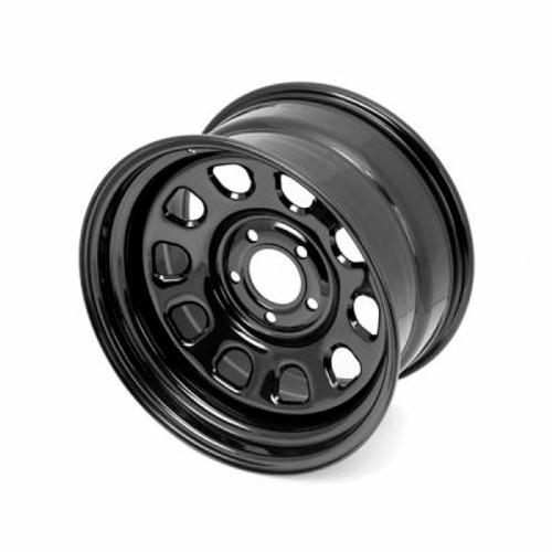 Rugged Ridge, 15500.70 - Black D-Window Wheel, 17 in X 9 ines, 5 x 5 in bolt pattern