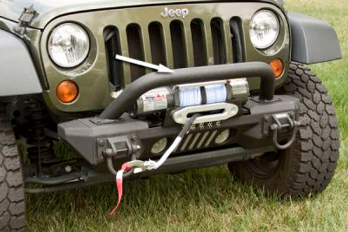Rugged Ridge, 11541.14 - Over-rider Hoop, XHD Aluminum Bumpers, 07-18 Jeep Wrangler