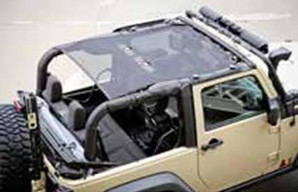 Rugged Ridge, 13579.06 - Eclipse Sun Shade, Black, 2-Door, 07-18 Jeep Wrangler (JK)