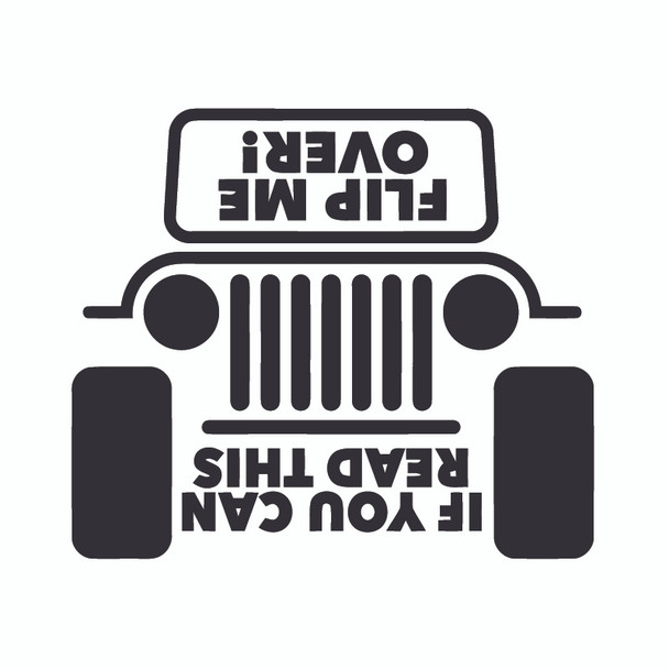 Decal, DEC-FLIP - Jeep Flip Me Over Decal