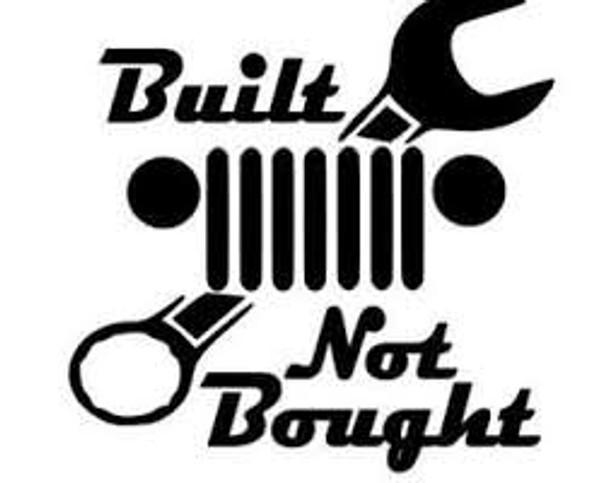 Decal, DEC-BNB - Built Not Bought Decal