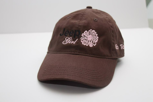 Jeep Clothing, CP5101 - Jeep Girl Go Topless Cap - Brown