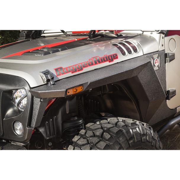 XHD Front Armor Fenders, Pair; 07-17 JK/JKU - Rugged Ridge