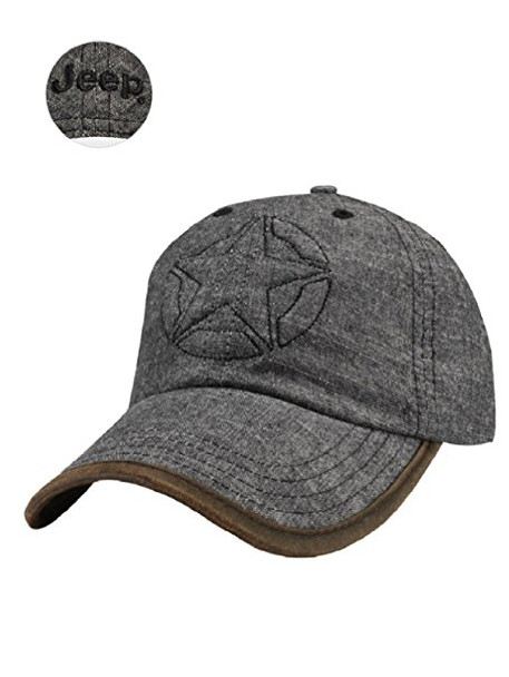 BLACK DENIM JEEP STAR HAT