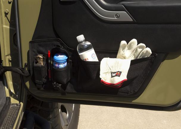 Storage Panel, Door Mounted, Pouches; 11-18 Jeep Wrangler JK/JKU | Rugged Ridge