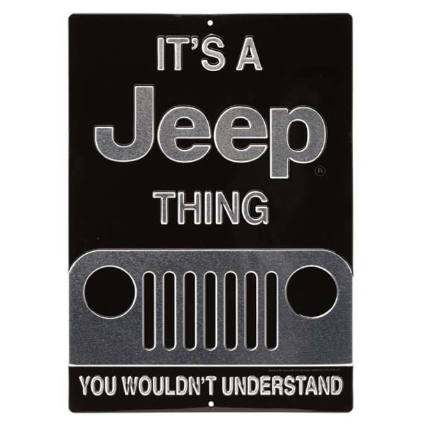 JEEP THING EMBOSSED TIN SIGN