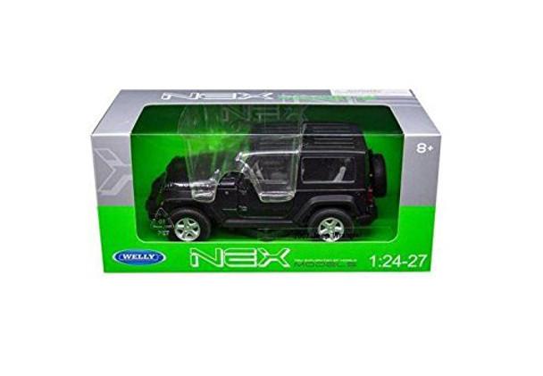 BRAND NEW DIECAST MODEL CAR 1:24 W/B - 2007 JEEP WRANGLER (DARK GREY METALLIC) 22489HW-GRY BY WELLY TOYS