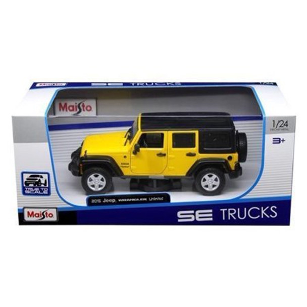 MAISTO 1:24 W/B SPECIAL EDITION TRUCKS - 2015 JEEP WRANGLER UNLIMITED