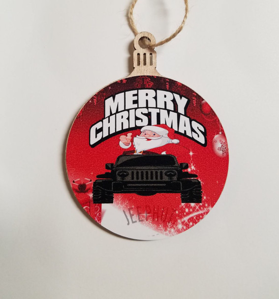 JeepHut Merry Christmas Ornament