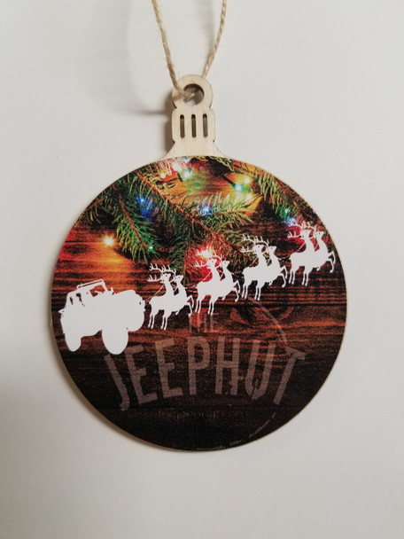 JeepHut Christmas Ornament Jeep with Reindeer