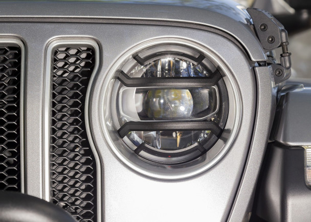 Elite Headlight Guards, Black; 18-19 JL
