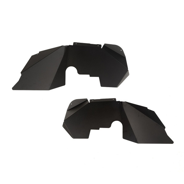 Jeep Wrangler Aluminum Fender Liners, Front, Black; 07-18 JK/JKU- Rugged Ridge