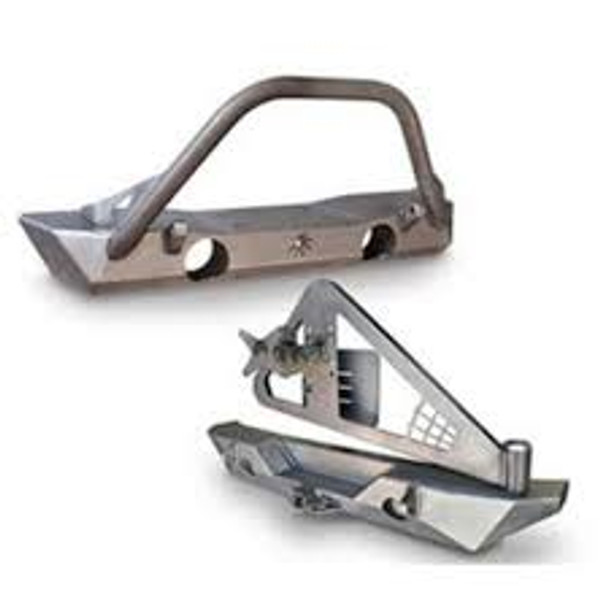 Poison Spyder  Bumper Package- Brawler Front and Rear Bumper with Tire Carrier (Bare)