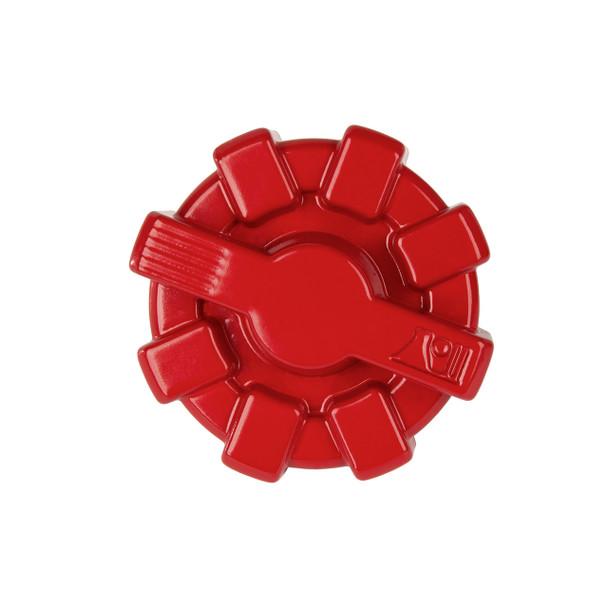 Elite Fuel Cap, Aluminum, Red; 01-18 Jeep Wrangler TJ/LJ/JK/JKU