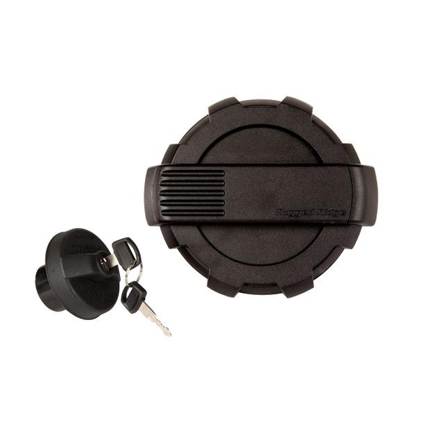 Elite Gas Cap Door/Cap Kit, Locking, Black; 07-18 Jeep Wrangler JK
