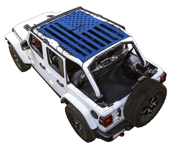 SpiderWeb Shade Jeep JL 4D Tactical Flag Distressed