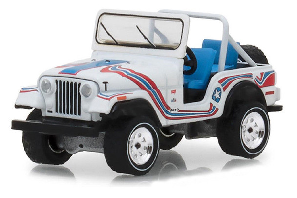 Greenlight 1:64 All-Terrain Series 7 - 1976 Jeep CJ-5 Bicentennial Edition (White)