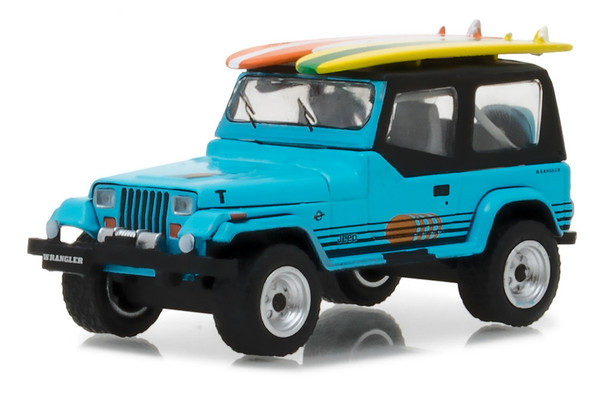 Greenlight 1:64 The Hobby Shop Series 2 - 1987 Jeep Wrangler YJ with Surfboards