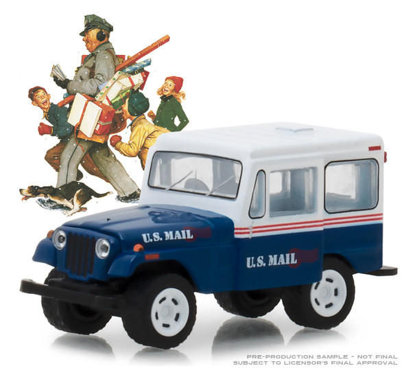 Greenlight 1:64 Norman Rockwell Series 1 - 1971 Jeep DJ-5 (Blue/White)