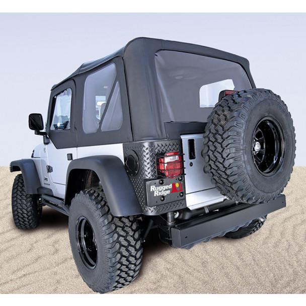 Rugged Ridge, 13725.15-GS - XHD Soft Top, Black, Clear Windows, 97-06 Jeep Wrangler (TJ)