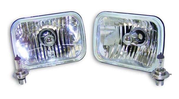 Rectangular Halogen Light Conversion Kit for 79-01 Jeep SJ, MJ, XJ, YJ, J-Series
