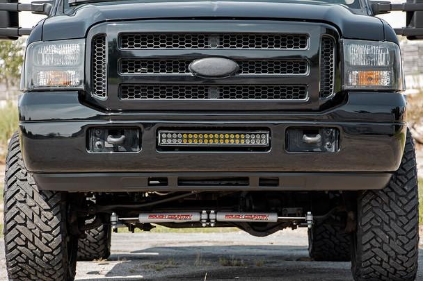 Ford 20in LED Bumper Kit   Black Series w/ White DRL (05-07 F-250/350)