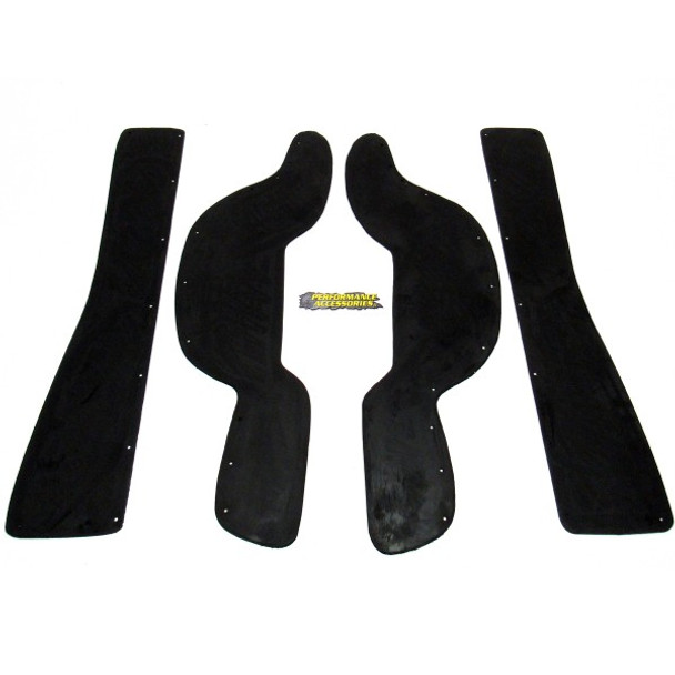 Gap Guards 92-99 Tahoe/Suburban/Yukon/Escalade 1500 2WD/4WD Gas and 02-06 Avalanche 1500 w/Cladding 2WD/4WD Gas Black Performance Accessories
