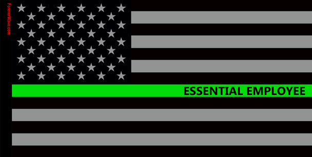 USA Subdued Essential Employee Flag Foreverwave