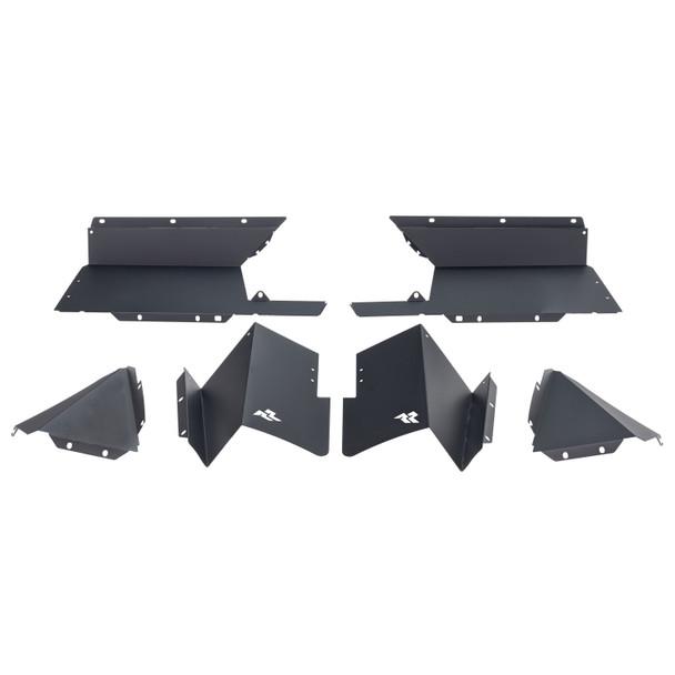 Inner Fender Liners, Rear, Aluminum, Blk; 2020 Jeep Gladiator JT