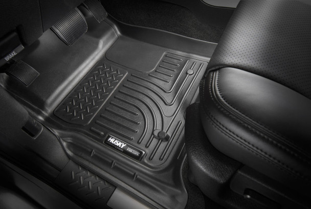18 Ford Expedition Front Floor Liners Black Husky Liners