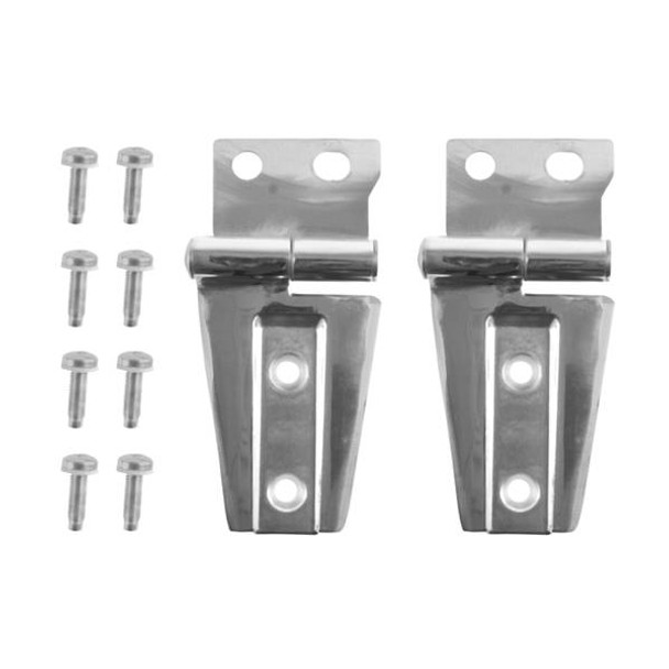 Rugged Ridge, 11111.22 - Hood Hinge Kit, Stainless Steel, 07-14 Jeep Wrangler (JK)