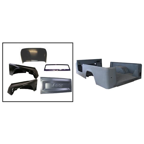 Omix-Ada, 12001.18 - Steel Body Kit, 81-86 Jeep CJ8 (Scrambler)