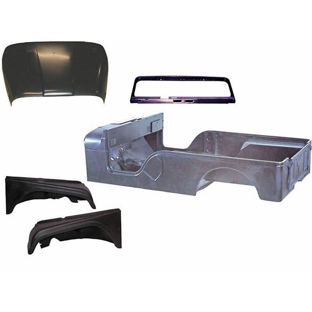 Omix-Ada, 12001.14 - Steel Body Kit, 55-68 Jeep CJ6