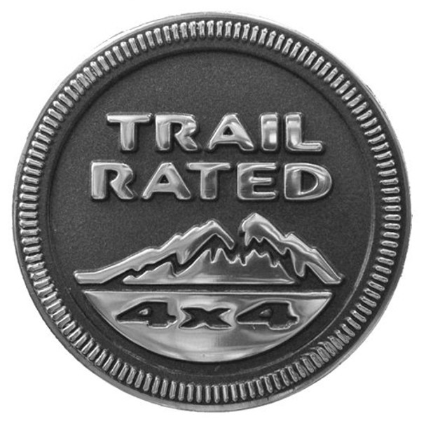Mopar, jjtrailrated - Trail Rated Badge For Jeep Vehicles