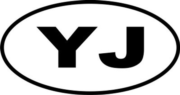 Decal, DEC-YJ - YJ Oval Euro-Style Decal
