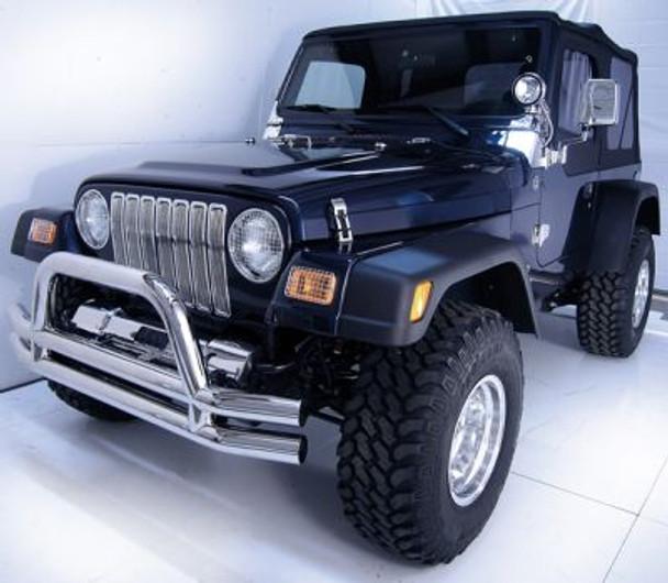 Rugged Ridge, 11306.04 - Grille Inserts, Black, 87-95 Jeep Wrangler (YJ)
