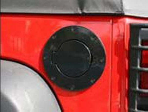 Rugged Ridge, 11229.02 - Non-Locking Gas Cap Door, Black, 07-18 Jeep Wrangler (11229.02)