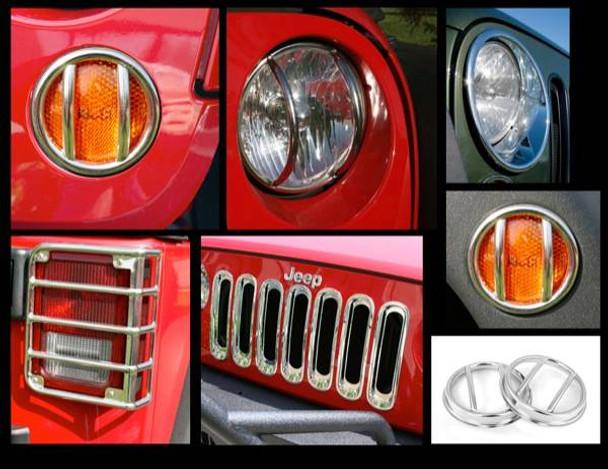 Rugged Ridge, 12496.10 - 19-Piece Euro Guard Light Kit, Stainless, 07-14 Jeep Wrangler