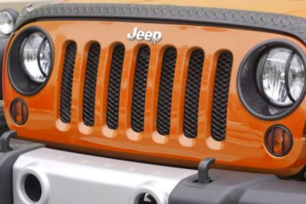 Rugged Ridge, 11401.31 - Mesh Grille Insert, Black, 07-14 Jeep Wrangler (JK)