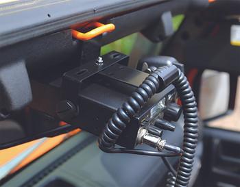RUGGED RIDGE 11503.96 CB Radio and Antenna Mount Kit For 07-17 Jeep Wrangler JK