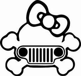 Girl Skull With Jeep Grill Decal Jeephut Offroad