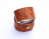 Wood Grain Leather Cuffs