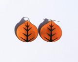 Leather Aspen leaf earrings