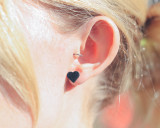 Leather Heart Studs