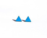Turquoise Triangle Wood Studs